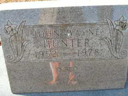 HUNTER, JOHN WAYNE - Boone County, Arkansas | JOHN WAYNE HUNTER - Arkansas Gravestone Photos
