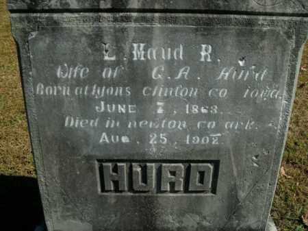 HURD, L. MAUD R. - Boone County, Arkansas   L. MAUD R. HURD - Arkansas Gravestone Photos