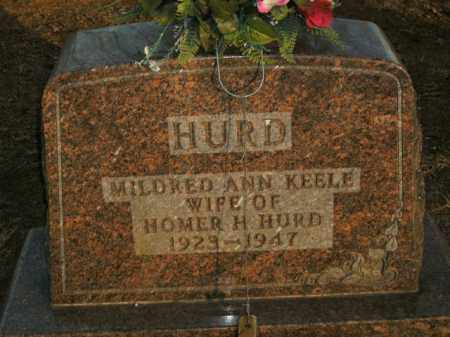 KEELE HURD, MILDRED ANN - Boone County, Arkansas | MILDRED ANN KEELE HURD - Arkansas Gravestone Photos