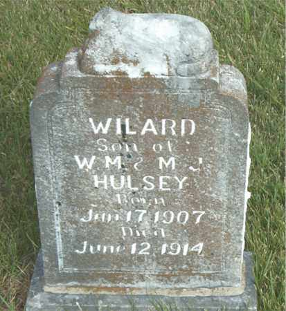 HULSEY, WILARD - Boone County, Arkansas | WILARD HULSEY - Arkansas Gravestone Photos