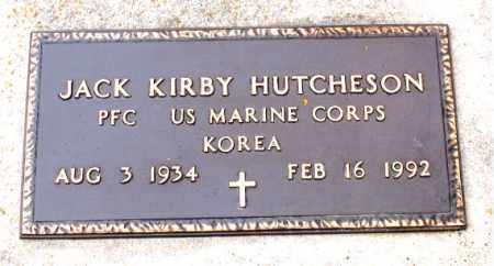 HUTCHESON   (VETERAN KOR), JACK KIRBY - Boone County, Arkansas | JACK KIRBY HUTCHESON   (VETERAN KOR) - Arkansas Gravestone Photos