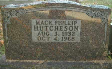 HUTCHESON, MACK PHILLIP - Boone County, Arkansas | MACK PHILLIP HUTCHESON - Arkansas Gravestone Photos