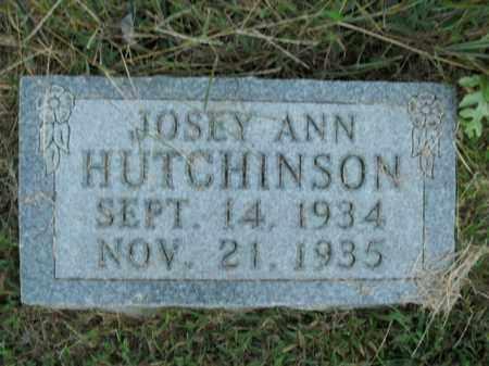 HUTCHINSON, JOSEY ANN - Boone County, Arkansas | JOSEY ANN HUTCHINSON - Arkansas Gravestone Photos