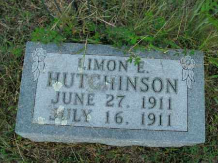 HUTCHINSON, LIMON E. - Boone County, Arkansas | LIMON E. HUTCHINSON - Arkansas Gravestone Photos