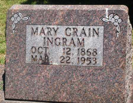 CRAIN INGRAM, MARY - Boone County, Arkansas | MARY CRAIN INGRAM - Arkansas Gravestone Photos