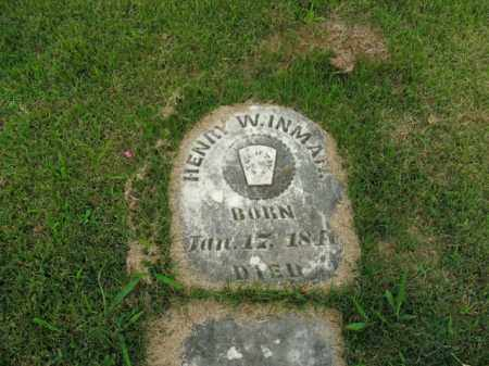 INMAN, HENRY W. - Boone County, Arkansas | HENRY W. INMAN - Arkansas Gravestone Photos