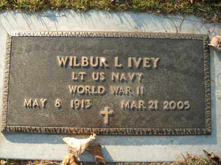 IVEY  (VETERAN WWII), WILBUR L - Boone County, Arkansas | WILBUR L IVEY  (VETERAN WWII) - Arkansas Gravestone Photos