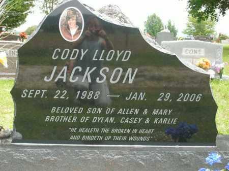 JACKSON, CODY LLOYD - Boone County, Arkansas   CODY LLOYD JACKSON - Arkansas Gravestone Photos