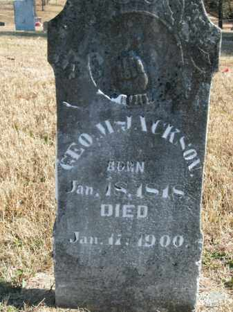 JACKSON, GEORGE M. - Boone County, Arkansas | GEORGE M. JACKSON - Arkansas Gravestone Photos