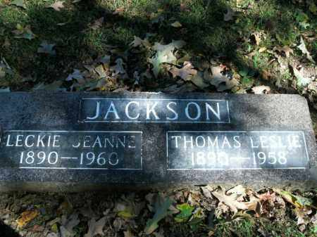 JACKSON, THOMAS LESLIE - Boone County, Arkansas | THOMAS LESLIE JACKSON - Arkansas Gravestone Photos