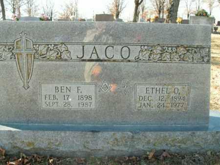 JACO, BEN F. - Boone County, Arkansas | BEN F. JACO - Arkansas Gravestone Photos