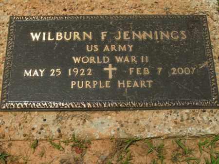 JENNINGS  (VETERAN WWII), WILBURN F. - Boone County, Arkansas | WILBURN F. JENNINGS  (VETERAN WWII) - Arkansas Gravestone Photos
