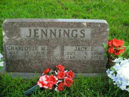JENNINGS, CHARLOTTE M. - Boone County, Arkansas | CHARLOTTE M. JENNINGS - Arkansas Gravestone Photos