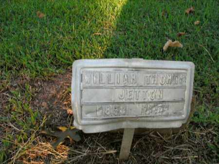 JETTON, WILLIAM THOMAS - Boone County, Arkansas | WILLIAM THOMAS JETTON - Arkansas Gravestone Photos