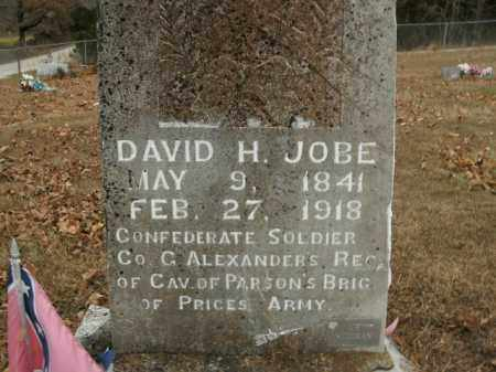 JOBE  (VETERAN CSA), DAVID H - Boone County, Arkansas | DAVID H JOBE  (VETERAN CSA) - Arkansas Gravestone Photos
