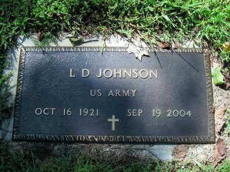 JOHNSON  (VETERAN), L.D. - Boone County, Arkansas | L.D. JOHNSON  (VETERAN) - Arkansas Gravestone Photos