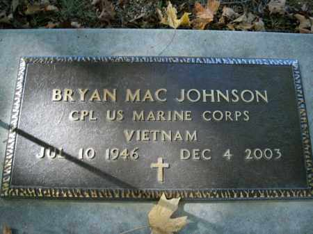 JOHNSON  (VETERAN VIET), BRYAN MAC - Boone County, Arkansas | BRYAN MAC JOHNSON  (VETERAN VIET) - Arkansas Gravestone Photos