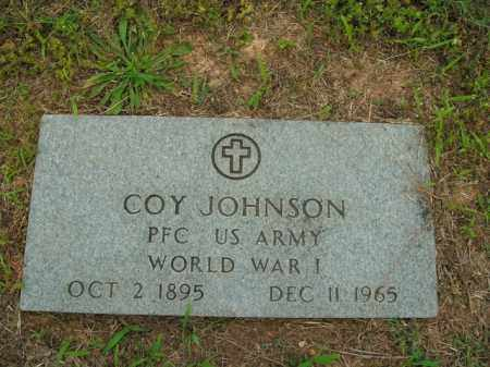 JOHNSON  (VETERAN WWI), COY - Boone County, Arkansas | COY JOHNSON  (VETERAN WWI) - Arkansas Gravestone Photos