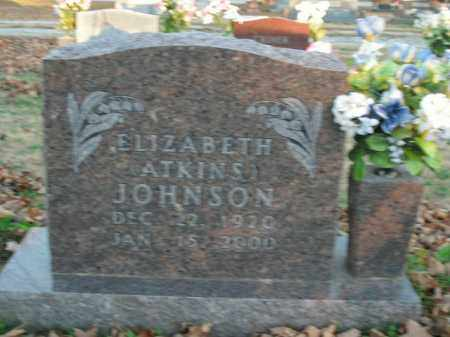JOHNSON, ELIZABETH - Boone County, Arkansas | ELIZABETH JOHNSON - Arkansas Gravestone Photos