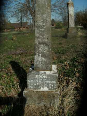 JOHNSON, EDDIE - Boone County, Arkansas   EDDIE JOHNSON - Arkansas Gravestone Photos