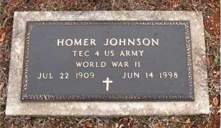 JOHNSON  (VETERAN WWII), HOMER GUY - Boone County, Arkansas | HOMER GUY JOHNSON  (VETERAN WWII) - Arkansas Gravestone Photos