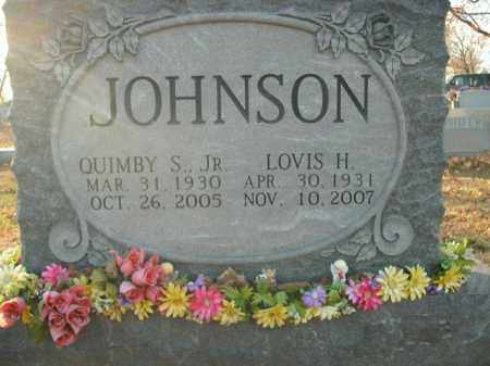 JOHNSON, JR, QUIMBY S. - Boone County, Arkansas | QUIMBY S. JOHNSON, JR - Arkansas Gravestone Photos