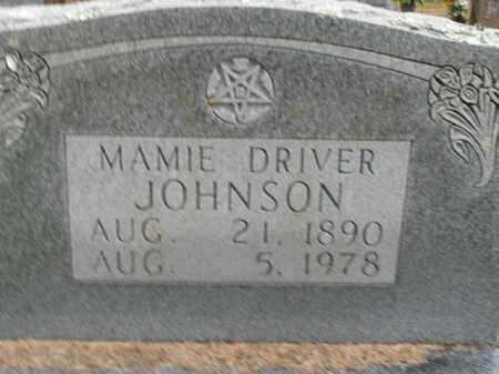 DRIVER JOHNSON, MAMIE - Boone County, Arkansas | MAMIE DRIVER JOHNSON - Arkansas Gravestone Photos