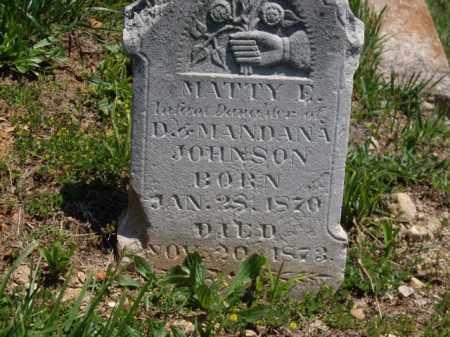 JOHNSON, MATTY E. - Boone County, Arkansas   MATTY E. JOHNSON - Arkansas Gravestone Photos