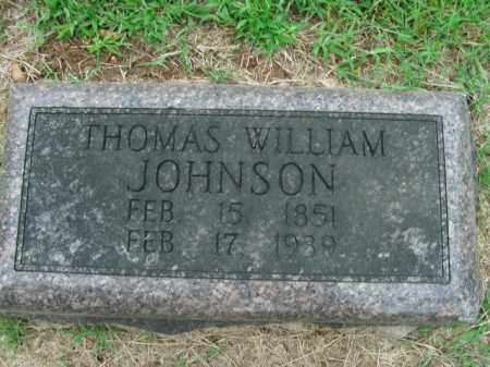 JOHNSON, THOMAS WILLIAM - Boone County, Arkansas | THOMAS WILLIAM JOHNSON - Arkansas Gravestone Photos