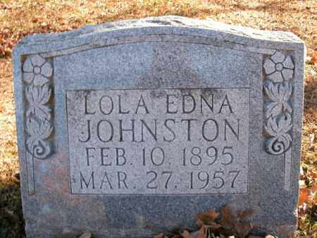 JOHNSTON, LOLA EDNA - Boone County, Arkansas | LOLA EDNA JOHNSTON - Arkansas Gravestone Photos