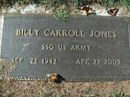 JONES  (VETERAN), BILLY CARROLL - Boone County, Arkansas | BILLY CARROLL JONES  (VETERAN) - Arkansas Gravestone Photos