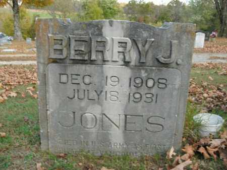 JONES  (VETERAN), BERRY J - Boone County, Arkansas | BERRY J JONES  (VETERAN) - Arkansas Gravestone Photos