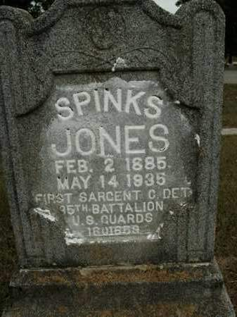 JONES  (VETERAN), SPINKS - Boone County, Arkansas | SPINKS JONES  (VETERAN) - Arkansas Gravestone Photos