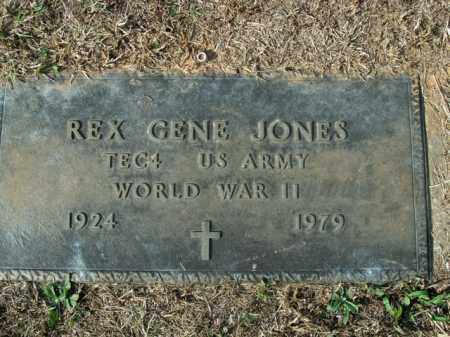 JONES  (VETERAN WWII), REX GENE - Boone County, Arkansas | REX GENE JONES  (VETERAN WWII) - Arkansas Gravestone Photos