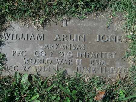 JONES  (VETERAN WWII), WILLIAM ARLIN - Boone County, Arkansas | WILLIAM ARLIN JONES  (VETERAN WWII) - Arkansas Gravestone Photos