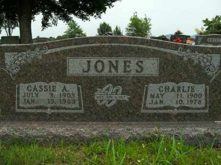 JONES, CHARLIE - Boone County, Arkansas | CHARLIE JONES - Arkansas Gravestone Photos