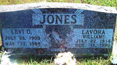 WILLIAMS JONES, LAVONA - Boone County, Arkansas | LAVONA WILLIAMS JONES - Arkansas Gravestone Photos