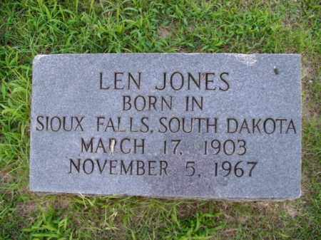 JONES, LEN - Boone County, Arkansas | LEN JONES - Arkansas Gravestone Photos