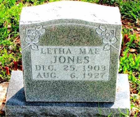 JONES, LETHA  MAE - Boone County, Arkansas | LETHA  MAE JONES - Arkansas Gravestone Photos