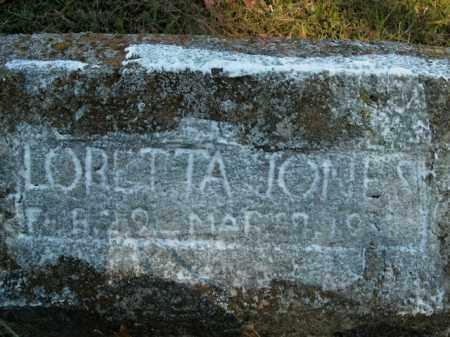 JONES, LORETTA - Boone County, Arkansas | LORETTA JONES - Arkansas Gravestone Photos