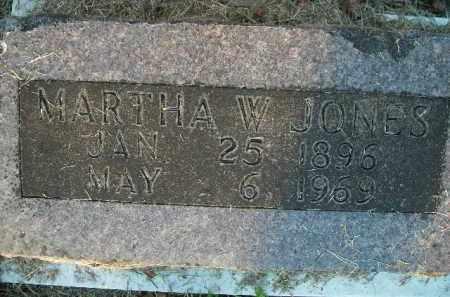 JONES, MARTHA W. - Boone County, Arkansas | MARTHA W. JONES - Arkansas Gravestone Photos