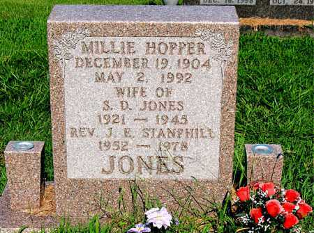 HOPPER JONES, MILLIE - Boone County, Arkansas | MILLIE HOPPER JONES - Arkansas Gravestone Photos