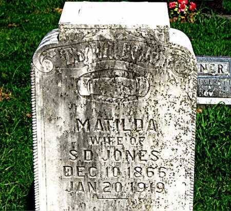 HOPPER JONES, MATILDA - Boone County, Arkansas | MATILDA HOPPER JONES - Arkansas Gravestone Photos