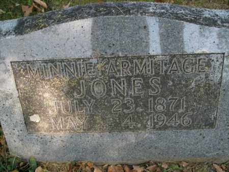 ARMITAGE JONES, MINNIE - Boone County, Arkansas | MINNIE ARMITAGE JONES - Arkansas Gravestone Photos