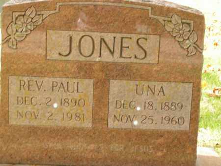 JONES, PAUL (REVEREND) - Boone County, Arkansas | PAUL (REVEREND) JONES - Arkansas Gravestone Photos