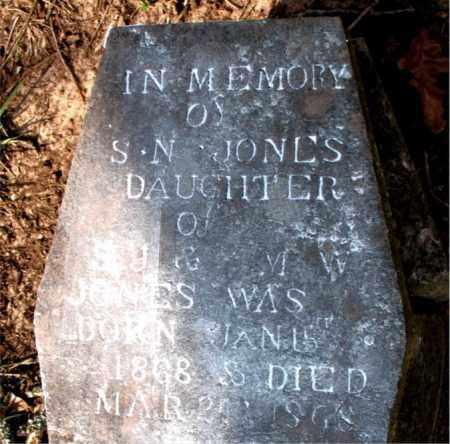 JONES, S. N. - Boone County, Arkansas | S. N. JONES - Arkansas Gravestone Photos