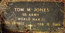 JONES  (VETERAN WWII), TOM M - Boone County, Arkansas | TOM M JONES  (VETERAN WWII) - Arkansas Gravestone Photos