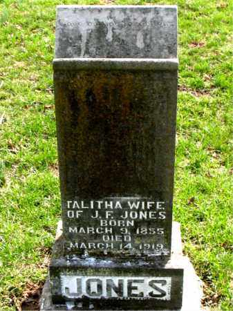 JONES, TALITHA - Boone County, Arkansas | TALITHA JONES - Arkansas Gravestone Photos