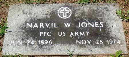 JONES (VETERAN), NARVIL W - Boone County, Arkansas | NARVIL W JONES (VETERAN) - Arkansas Gravestone Photos
