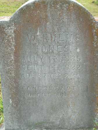 JONES, W. RULUS - Boone County, Arkansas | W. RULUS JONES - Arkansas Gravestone Photos